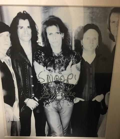 Aerosmith with autograph